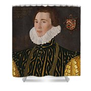 George Gower Portrait Of Thomas Slingsby 1556  1579 1577 Shower Curtain