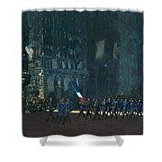 George Luks   Blue Devils On Fifth Avenue   1918 Shower Curtain