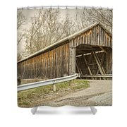 George Miller Covered Bridge  Shower Curtain