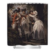 George Morland   The Deserters Farewell Shower Curtain