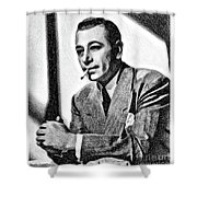 George Raft, Vintage Actor By Js Shower Curtain