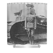 George S. Patton During World War One  Shower Curtain