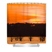 George T. Bagby State Park Sunset Shower Curtain
