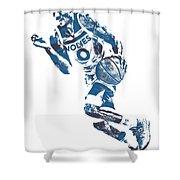 George Teague Minnesota Timberwolves Pixel Art 1 Shower Curtain