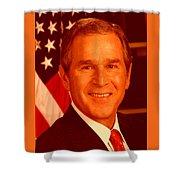 George W Bus Shower Curtain