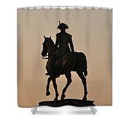 George Washington At Sunrise Shower Curtain