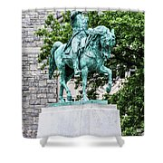 George Washington At West Point Military Academy Shower Curtain