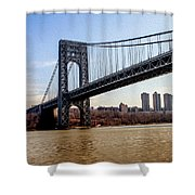George Washington Bridge Shower Curtain