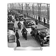 George Washington Bridge Open Shower Curtain