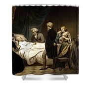 George Washington On His Deathbed Shower Curtain