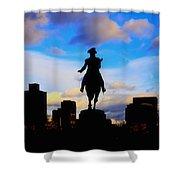 George Washington Statue Sunset - Boston Shower Curtain