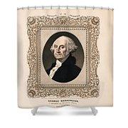 George Washington - Vintage Color Portrait Shower Curtain