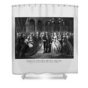 George Washington's Reception At White House - 1776  Shower Curtain