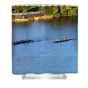 Georgetown Crew On The Potomac? Shower Curtain