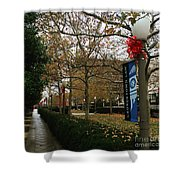 Georgetown Law Holiday Shower Curtain