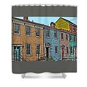 Georgetown Row Shower Curtain