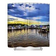 Georgetown Yacht Basin Shower Curtain