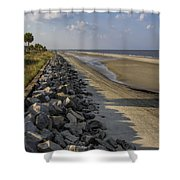 Georgia Atlantic Sea Barrier Shower Curtain