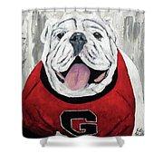 Georgia Bulldog Shower Curtain