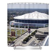 Georgia Dome In Atlanta Shower Curtain