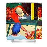 Georgia Peaches Shower Curtain