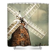 Georgian Stone Windmill  Shower Curtain