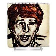 Georgie Fame Portrait Shower Curtain