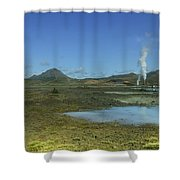 Geothermal Power Station Iceland  Shower Curtain