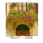 Gerani Coloriti Shower Curtain