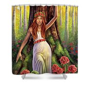 Geranium - Resilience Shower Curtain by Anne Wertheim