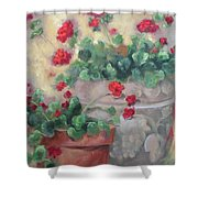 Geraniums Shower Curtain