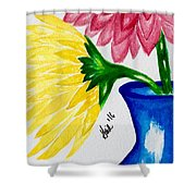 Gerber Daisy Vase  Shower Curtain