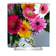Gerbera Daisy Bouquet Shower Curtain