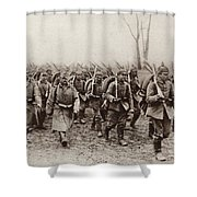 German And Austrian Soldiers Marching Shower Curtain