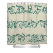 German Arabesque  Shower Curtain