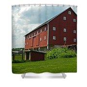 Historic German Bank Barn - Maryland Shower Curtain
