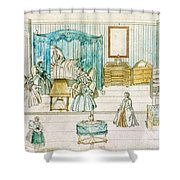 German Bedroom, 18th C Shower Curtain