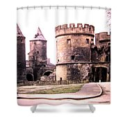 German Gate In Metz 1955 Shower Curtain