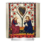 German Minnesinger 14th C - To License For Professional Use Visit Granger.com Shower Curtain