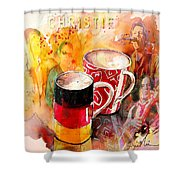 German Mugs And Christie Shower Curtain
