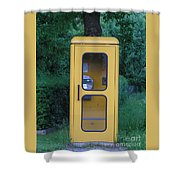 German Phone Booth Shower Curtain