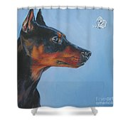 German Pinscher Shower Curtain