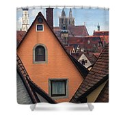 German Rooftops Shower Curtain