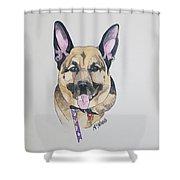 German Shephard Shower Curtain