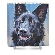 German Shepherd Black Shower Curtain