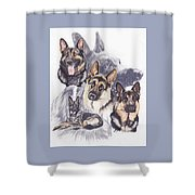 German Shepherd W/ghost Shower Curtain