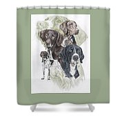 German Shorted-haired Pointer Revamp Shower Curtain