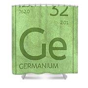 Germanium Element Symbol Periodic Table Series 032 Shower Curtain