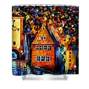 Germany - Medieval Rothenburg Shower Curtain
