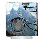 Germany - Cafe Sign Shower Curtain